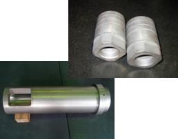 ダイカスト鋳造機用 プランジャースリーブ、ダイカスト鋳造機用 プランジャーチップ:(業種)アルミダイカストを中心とする金型部品及び 鋳造機部品の製造・加工